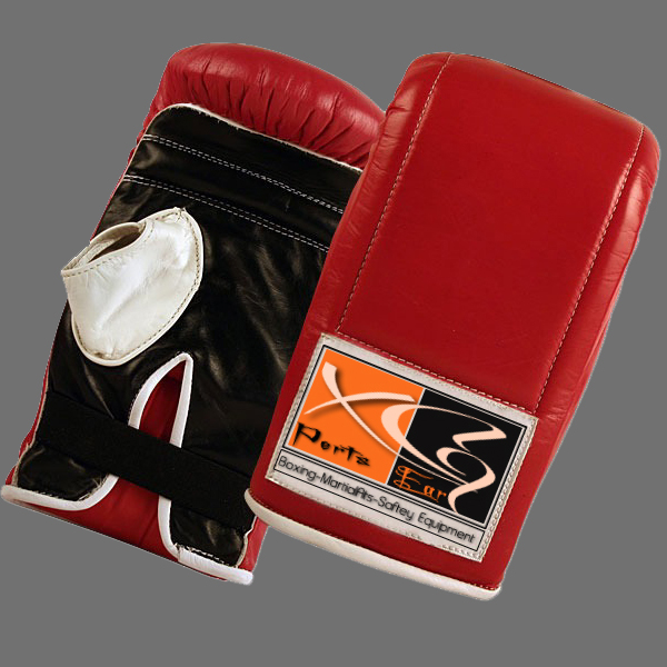 Bag Mitts-XG 15 Bag Mitts made of the finest cowhide leather and fully lined and leather welted throughout. Open thumb for a tight fist