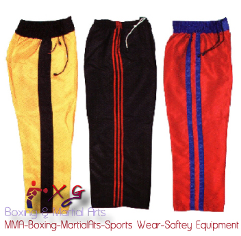 Boxing Trousers-XG 14 Thai Boxing trousers 100% Nylon With stars, writing and strips